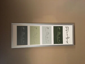 Andy Warhol print in frame.