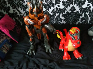 Transformer robot and Fisher price dragon