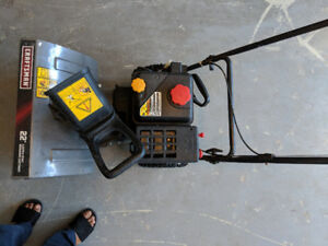 Snow blower almost new barely used for immediate sale.