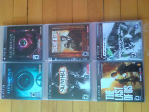 PS3 GAMES 6 games -$30 firm