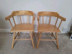 Wooden child chairs