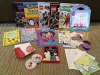 Sticker books, stickers, greeting cards