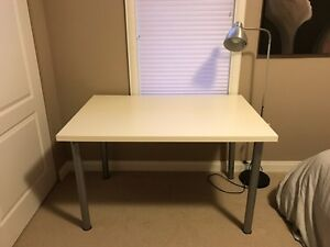 IKEA White Desk with Grey Legs