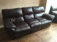 2 & 3 Seater leather Sofas.