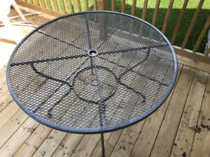 Super Sturdy Metal Table and Chairs
