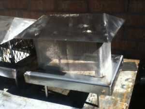 Stainless Chimney Cap Custom Homemade reduced now 25 each OBO