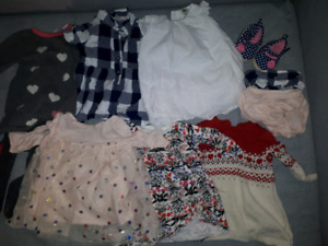 Baby girl 6 month clothing lot.