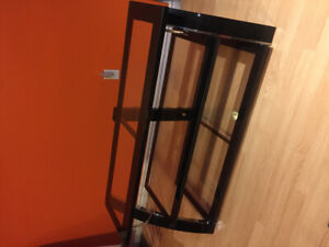 "Glass TV stand for up to 55"", all brackets and mounts incl."