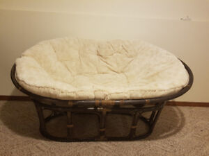 Papasan Double Chair/Couch