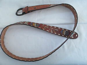 Mexican hand painted belt