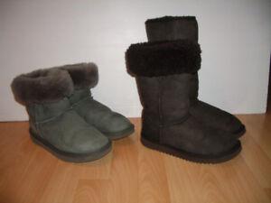 "UGG "" style bottes mouton / shearling --- size 6 US ou 7 US"