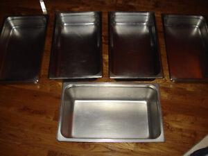 7 Réchauds , bac de table en stainless de marque Brownen