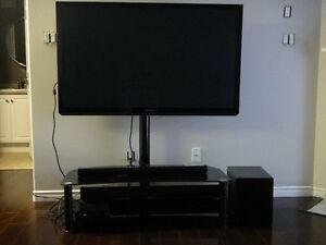 "46"" Panasonic TV,  Panisonic Sound  Bar and TV stand"