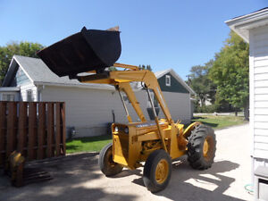 Industrial Massey Fergurson 202 with front end loader