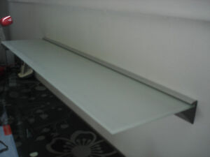 2 IKEA FROSTED GLASS SHELVES