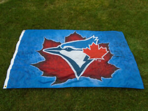 Toronto Blue Jays large silk flag.