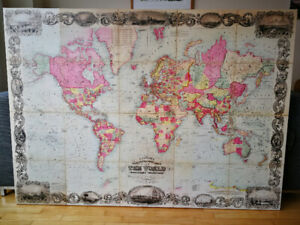 Stunning Full-Scale Antique World Map (Replica)