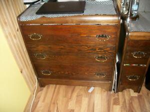 Antique three piece bedroom set