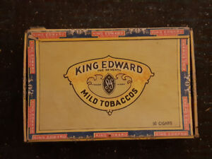 Vintage King Edward mild tobacco boxes