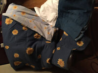 Twin Comforter, Pillow Sham and Bed Skirt