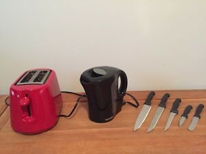 Kitchen items - red and black