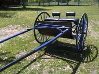 DRAFT MEADOW CART and HARNESS