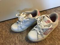Girls Heelys - Size 2-3 - Pink and White