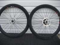 26'' Front and Rear MTB Rims complete with rubber,Dics and casse