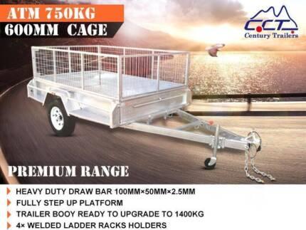 7x5 Premium Box Trailer A.T.M 750kg FREE REGO+SPARE WHEEL