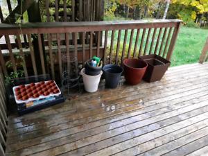 Pots for gardening