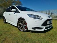2013 FORD FOCUS ST-3, 1 OWNER, FROZEN WHITE, FDSH