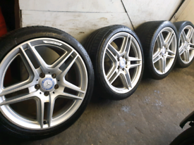 """Mercedes AMG Alloy wheels 18"""" staggered"""