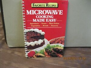 FAVORITE RECIPES   MICROWAVE  COOKING   MADE EASY Oakville / Halton Region Toronto (GTA) image 1