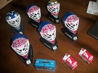 lot d'items de hockey