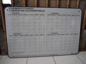 4 Month Calendar - Planning Board