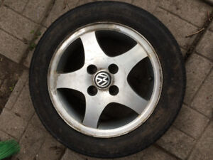 VW Golf Jetta MK3 MkIII Alloy Wheels and Tires
