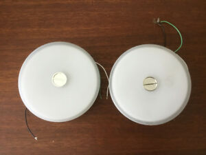 Two FLOS Ceiling and wall button light fixtures