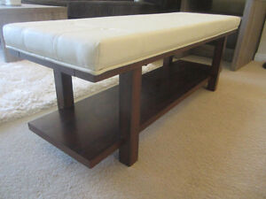 stylish Entrance Bench  - bonded leather Lounge Chaise