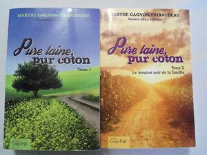 """2 livres """"pure laine, pure coton """""""