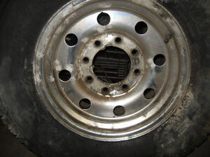 8 bolt truck rims with winter radial tires, sell or trade