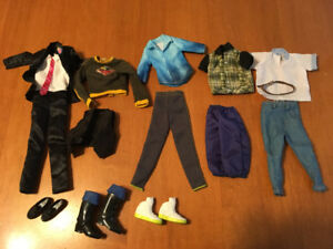 Barbie doll lot #5 of Ken doll clothes and shoes
