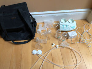 Ameda Purely Yours Double Breast Pump w/ Accessories & Case