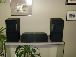 JBL  speakers  pair, plus a mid range