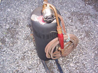 Prestolite Plumbers Acetylene TORCH outfit WITH  B tank Plumbing