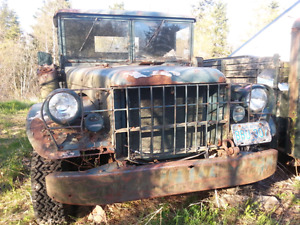 TWO 1958 DODGE M37 CANADIAN ARMY TRUCKS