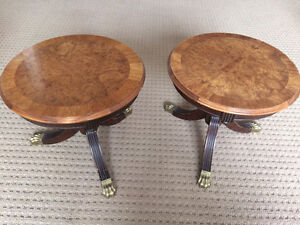 Two gorgeous vintage side tables