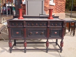 Gorgeous One of a Kind Antique Sideboard / Buffet - $895