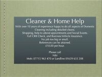 Domestic cleaner with 10 yrs exp, references and current crb in place. Neath and surrounding areas