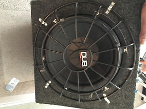 Two 12 inch subwoofers
