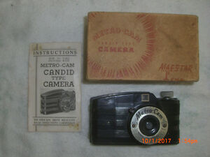 1940 Metro-Cam Camera with Original box and manual